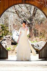 Silk sheath 1920's inspired bridal gown